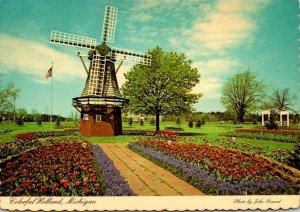 Michigan Holland Windmill At Veldheer's Tulip Gardens At Tulip Time