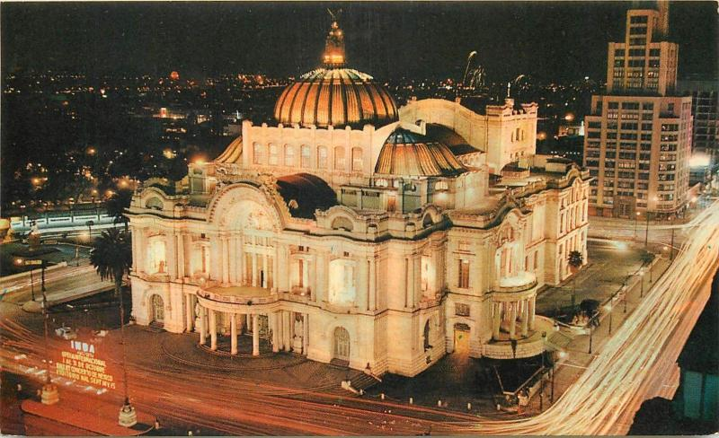 Mexico Palace of Fine Arts night panorama