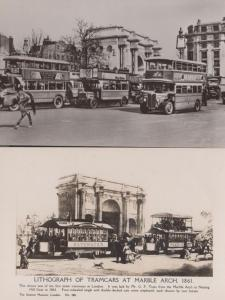 Marble Arch Currants London Bus Advertising Victorian Notting Hill Tram Postcard