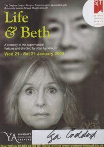 Liza Goddard Life & Beth Supernatural Play Guildford Hand Signed Theatre Flyer