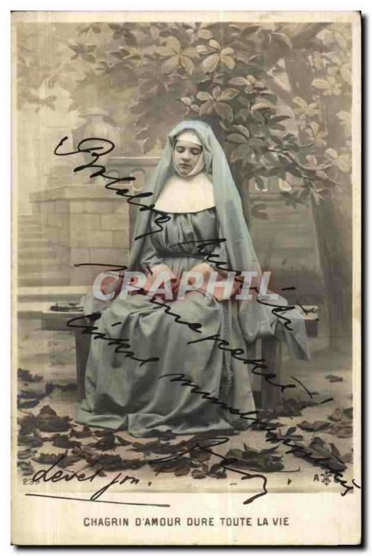 Fantaisie - Femme - Nun in prayer (carte hongroise Hungary Hongrie)- CPA