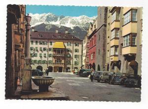 Austria Innsbruck Herzog Friedrich Strass Gold Roof Vtg 4X6 Postcard