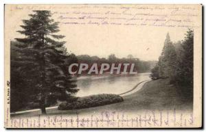Old Postcard The Bois de Boulogne in Fall Around Grand Lake