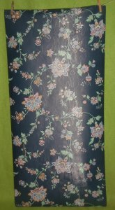 Vintage By the Yard IMPERIAL Wall Paper Covering Sample Dark Blue Floral TD 3026