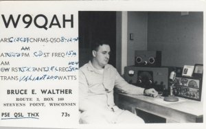 RP; STEVENS POINT , Wisconsin, 1958; QSR Card, Bruce E. Walther