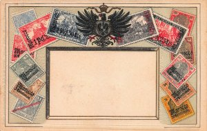 German Offices in Morocco, Stamps on Early Postcard, Published by Ottmar Zieher