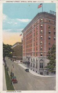 Chestnut Street, Kimball Hotel and Y.M.C.A., Springfield, Massachusetts, PU-1934