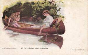 PU-1911; Couple On A Canoe, So You're Going Home Tomorrow