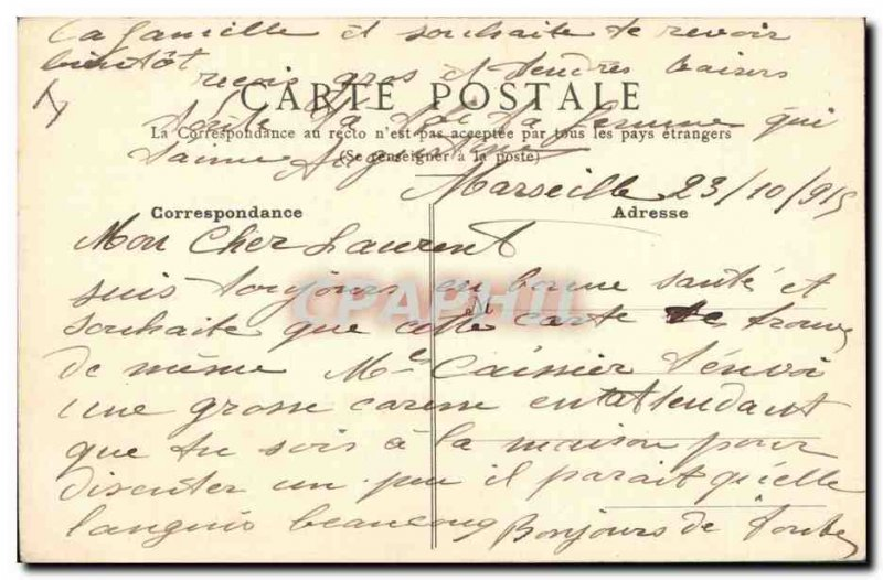 Old Postcard Drawing by hand Flowers