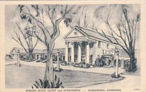 Louisiana Alexandria Edmary Hotel Court and Apartments 1951