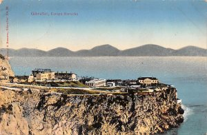 Europa Barracks Gibraltar Writing on back