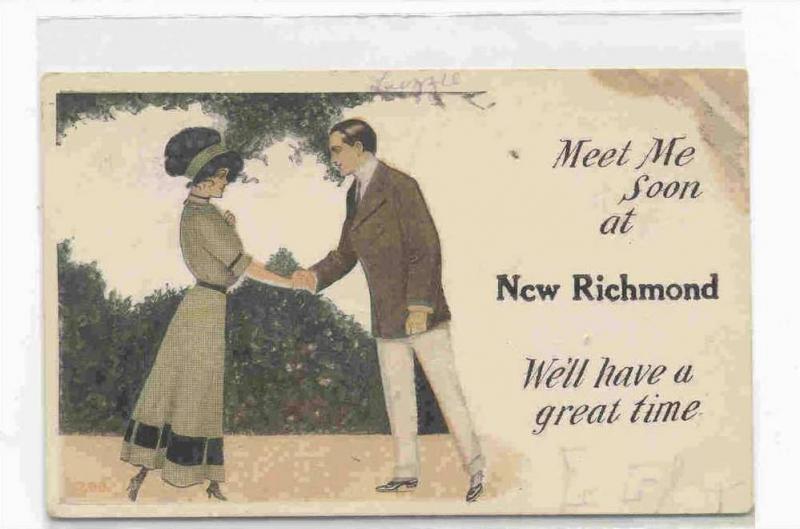 Meet Me Soon at New Richmond, Indiana 00-10 / HipPostcard