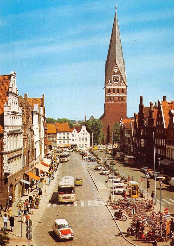 GG12992 Lueneburg Am Sande Auto Vintage Cars Church Kirche