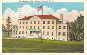 Oriskany New York Eastern Star Home Street View Antique Postcard K52141