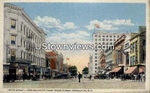 Tryon Street in Charlotte, North Carolina