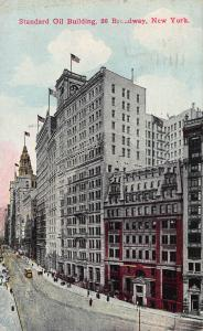 Standard Oil Building, 26 Broadway, Manhattan, N.Y.C., Early Postcard, Used