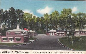 North Carolina Concord Twin-City Motel 1960 sk7514