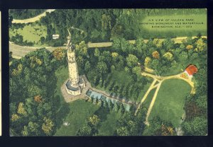 Birmingham, Alabama/AL Postcard, Air View Of Vulcan Park, Monument & Waterfalls