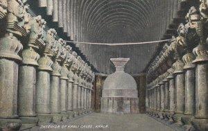 KARLA , India , 1900-10s ; Interior of Karli Caves