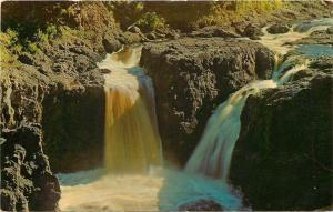 Mellen Wisconsin~Copper Falls Birdseye~Copper Falls State Park~1957 Postcard