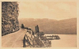 KVAMSKOGEN HARDANGER NORWAY-HORSE DRAWN CARRIAGE-SEPITA PHOTO POSTCARD