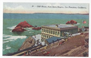 San Francisco CA Cliff House from Sutro Heights Vintage Edw H Mitchell Postcard