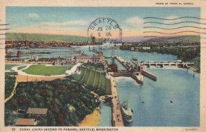 SEATTLE, Washington, PU-1937; Canal Locks Second To Panama