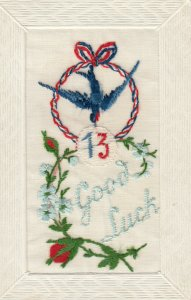 EMBROIDERED, 1900-10s; # 13 ; Good Luck