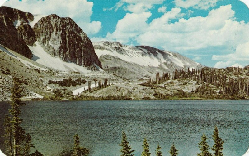 Lake Marie , Medicine Bow National Park , Wyoming , 1950-60s