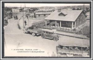 St Nazaire France WW I US Army Camp Commandant's Headquarters No. 3 - [MX-254]