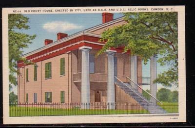 South Carolina colour PC  Old Court House, Camden, unused