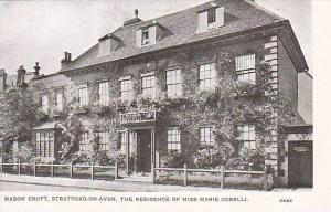 The Residence of Miss Marie Corelli, Mason Croft, Stratford-on-Avon, Warwicks...