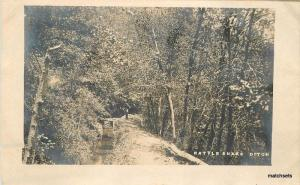 1908 Dutch Flat Placer California Rattle Snake Ditch RPPC Real photo 5405