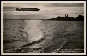 3rd Reich Germany SS Feldpost Graf Zeppelin Airship 197  RPPC 66443