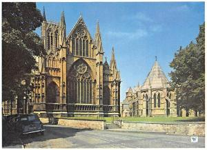 Lincoln Cathedral East End and Chapter House Vintage Cars