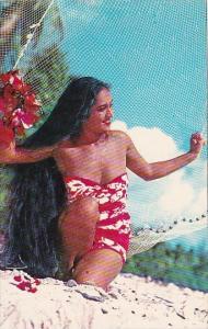 Beautiful Tahaitian Maiden Posing