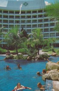 Malaysia Golden Sands Hotel Butu Feringgi Beach 1980s Advertising Postcard