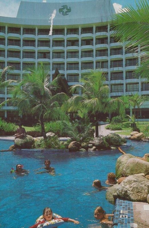 Malaysia Golden Sands Hotel Butu Feringgi Beach 1980s Advertising Postcard