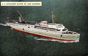 S S Milwaukee Clipper On Lake Michigan