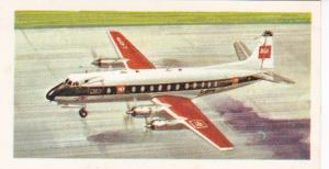 Trade Card Brooke Bond Tea History of Aviation black back reprint No 34 Vickers