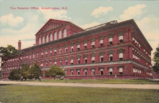 Washington D C The Pension Office