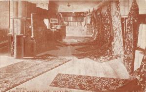 F9/ Bucyrus Ohio Postcard c1910 Rowes Department Store Interior Carpet 2