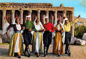 Baalbek, Lebanon Postcard, Carte Postale Folklore Libanais Baalbek Folklore L...