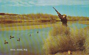 Man Shooting Up The Sky, Swans, Amos, Abitibi, Quebec, Canada, 1940-1960s
