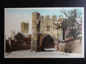 Lincolnshire LINCOLN Pottergate Arch - Old Postcard by Photochrom Co. 4176