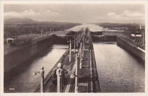 Panama Canal Gatun Locks Real Photo