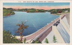 Boat Regatta On Lake Norris Dam Tennessee