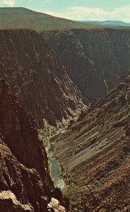 Black Canyon of the Gunnison Nat'l Monument, CO, Chrome Vintage Postcard g8383