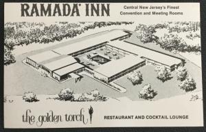 Postcard Unused Ramada Inn Golden Torch East Brunswick NJ LB