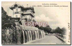 Nice Old Postcard Cascade Vesubie in Gairaut